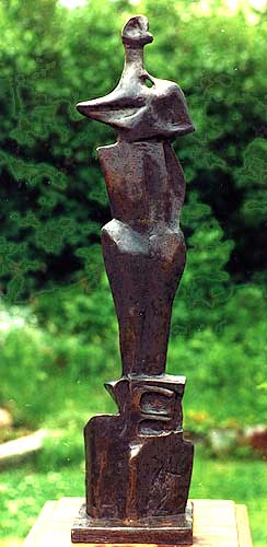 Upright Figure No 2b - Bronze-